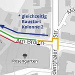 Jetzt wird wieder auf der Odenthaler Straße gebaut
