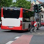 Feldstraße hat keinen Platz für Fahrräder