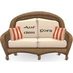 Konstantin Neven DuMont sitzt auf dem Sofa im H&Ä