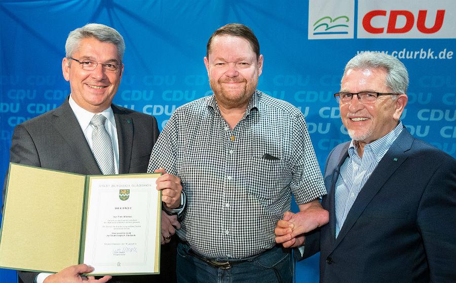 Peter Mömkes, Ehrenvorsitzender der CDU Fraktion Bergisch Gladbach, Pfadfinder und Karnevalist , Refrather. Foto: Joachim Gies