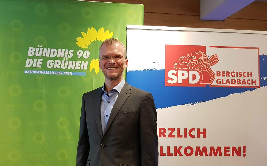 Frank Stein, Kandidat von SPD, Grünen und FDP für die Bürgermeisterwahl in Bergisch Gladbach 2020