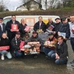 Die CDU Stadtmitte packt Päckchen für die Tafel