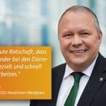 Josef Hovenjürgen berichtet über Fortschritte in NRW