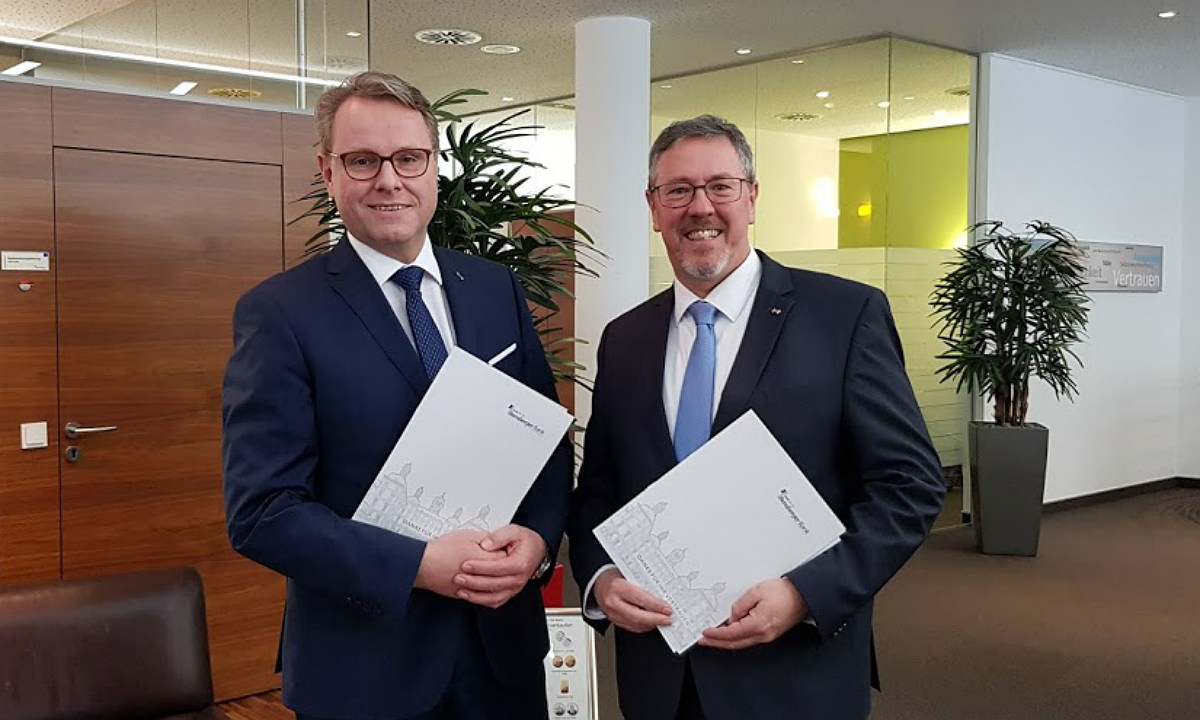 Die Bankvorstände Füllenbach und Schmiedt