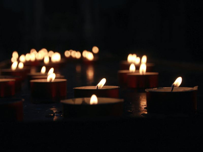 Kerzen Trauer tote